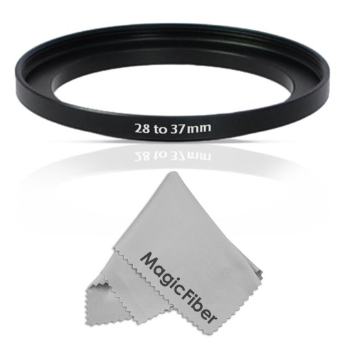 Goja 28-37MM Step-Up Adapter Ring (28MM Lens to 37MM Accessory) + Premium MagicFiber Microfiber Cleaning Cloth