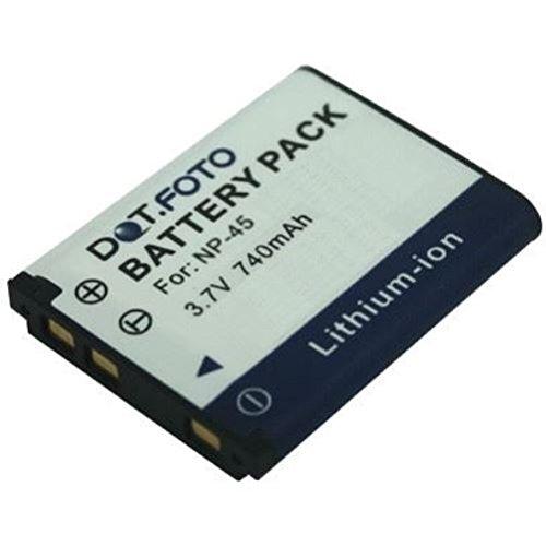 Garant/ía de 2 a/ños Vea compatibilidad en la descripci/ón Fujifilm NP-45 NP-45s PREMIUM Dot.Foto Bater/ía de Reemplazo 3.7V 740mAh NP-45a