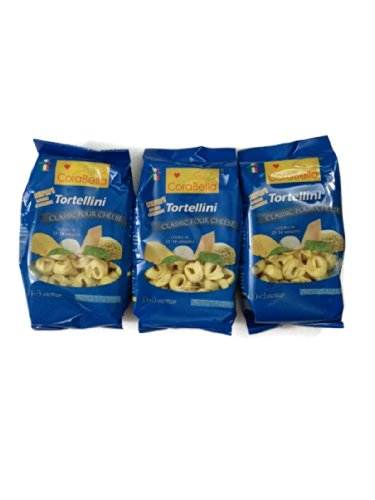 Corabella Four Cheese Tortellini Pasta, Classic Four Cheese, 8-oz. [Pack of 3]