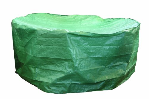 Bosmere B322 Round Waterproof Patio Set Cover, 98-Inch, Green