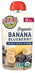 Earth's Best Organic Stage 2, Banana & Blueberry, 4 Ounce (Pack Of 6)