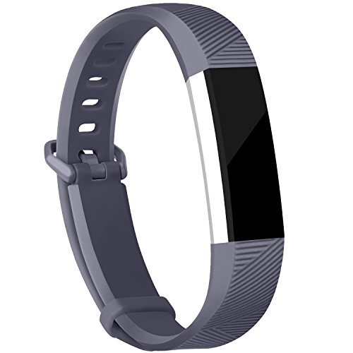 iGK For Fitbit Alta Bands and Fitbit Alta HR Bands, Newest Adjustable Sport Strap Replacement Bands for Fitbit Alta and Fitbit Alta HR Smartwatch Fitness Wristbands Grey Large Gray Wristband