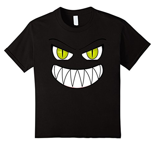 Kids Monster Face Funny Scary Halloween Costume - Men Women Kids 10 (Funny Simple Halloween Costume Ideas)