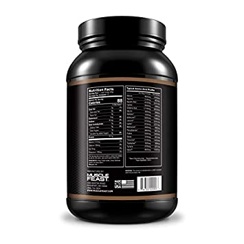 Grass Fed Whey Protein Isolate by Muscle Feast All Natural and Hormone Free 2lb, Chocolate