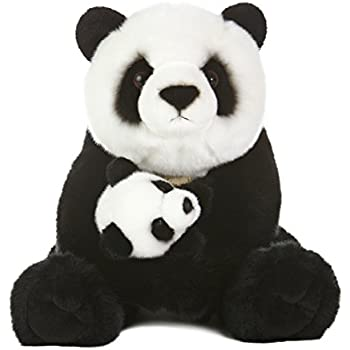 Amazon Com Aurora World Miyoni Panda Bear With Cub Plush 15 Toys
