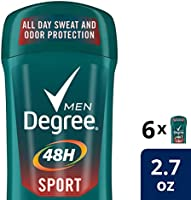 Save on Degree Men Antiperspirant Deodorant Stick Sport 48 Hour Protection 2.7 oz, 6 count and more