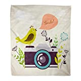 Best Camera For Bird Photographies - Emvency Throw Blanket Warm Cozy Print Flannel Yellow Review