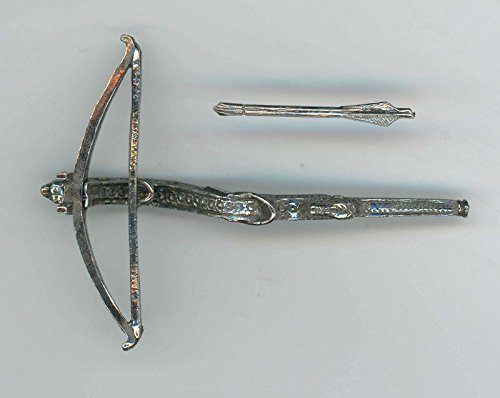 Warwick Miniatures Dollhouse Miniature Antiqued Pewter Crossbow and Bolt -