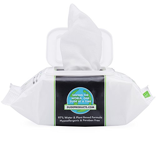 51iD%2BRH8P1L DUDE Face Wipes, Unscented for Sensitive Skin, Infused with Sea Salt & Aloe (3 Packs, 30ct Per Pack)