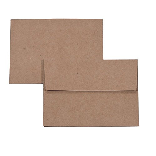 A7 Brown Kraft Paper Invitation 5 x 7 Envelopes - 50 Pack,Self Seal,for 5x7 Cards| Perfect for Weddings, Invitations, Baby Shower| Stationery for General, Office | 5.25 x 7.25 Inches Photo #3