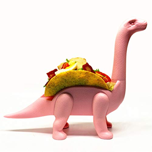 Taco Holder Stand Jurassic Long Neck Dinosaur Model Taco Shells Holder Perfect Gift for Taco Lovers Kids Adults Taco Tuesdays and Parties (Pink) by Aibiner -Home&Kitchen (Image #1)