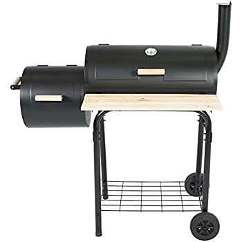Amazon Com Charcoal Bbq Grill With Casters Barrel Grill