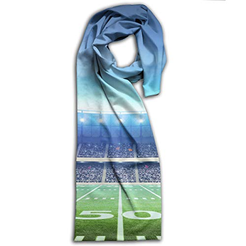 American Football Field Scarf Fashion Pattern Printed Can Be Used As Shawl,Headscarf and Wrap for Women Men,Teens (Fields Valance Floral)