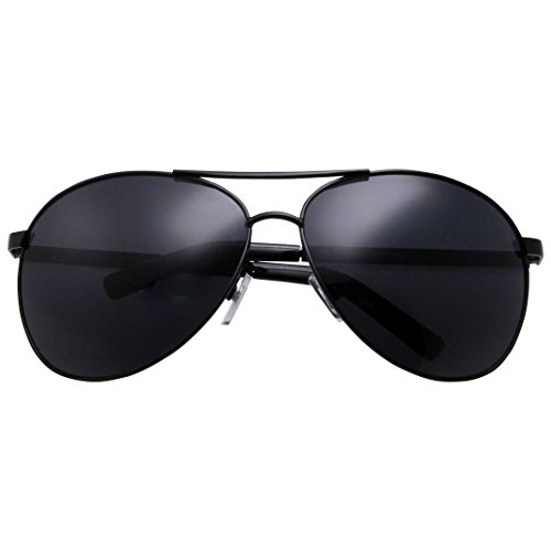 grinderPUNCH - Big XL Wide Frame Extra Large Aviator Sunglasses Oversized 148mm - Aviator Oversized Black Sunglasses