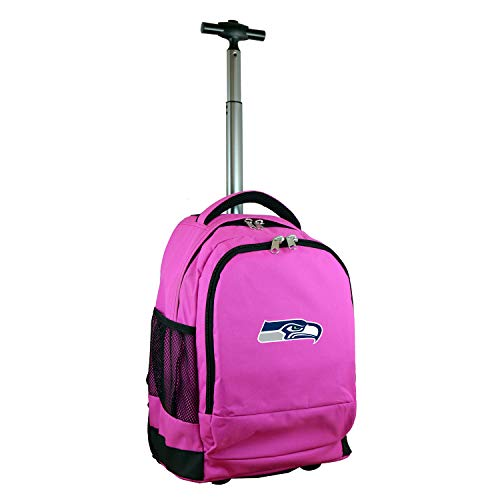 Denco NFL Seattle Seahawks Expedition Wheeled Backpack, 19-inches, Pink]()
