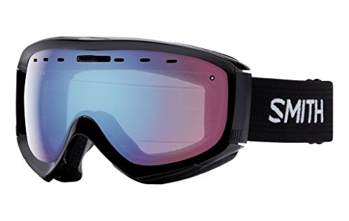 Smith Optics Prophecy OTG Adult OTG Series Snocross Snowmobile Goggles Eyewear - Black / Blue Sensor Mirror / Medium/Large -