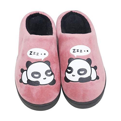 QZBAOSHU Rouge Chaussons Panda Femme Foncé Hiver Chaussures Homme YRx4RE