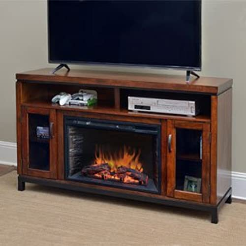 Comfort Smart Harper Infrared Electric Fireplace Entertainment Center In  Birch   CS 26MM BIR