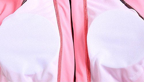 ZOYOL-YT Traje de baño de las mujeres Dos piezas de manga larga Pantalones cortos Pantalones Movimiento Profesión Deportes Playa de gran tamaño Traje de baño de protección solar pink shirt + shorts