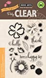 Hero Arts CL864 Color Layering Happy Day Flowers Clear Stamp Set