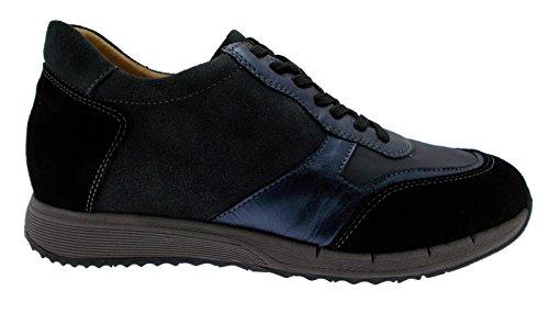 Loren Article C3681 Lacets Noirs Gris Daim Bleu Sneaker Plantaire