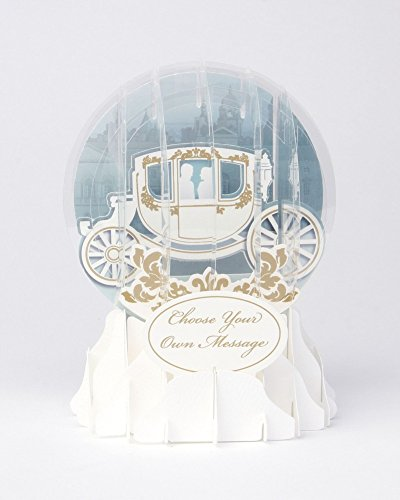 3D Snow Globe - Wedding Carriage - All Occasion Card