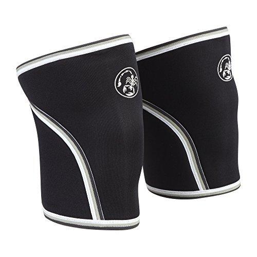 Rock Star Grip (Scorpion PowerLifting Pair of 7mm Neoprene Knee Sleeves Crossfit Wraps (Medium))
