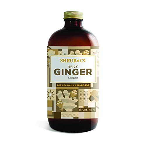 Shrub & Co Spicy Ginger Shrub - Fruit-Driven Mixers for Cocktails, Sparklers, and Club Sodas, 16 fl. oz.