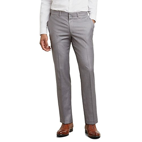 Kenneth Cole REACTION Men's Techni-Cole Stretch Slim Fit Suit Separate (Blazer, Pant, and Vest), Light Grey Basketweave Pant, 36W x 34L by Kenneth Cole REACTION