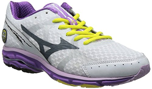 Mizuno Women's Wave Rider 17 2A Running Shoe,White,9 2A US