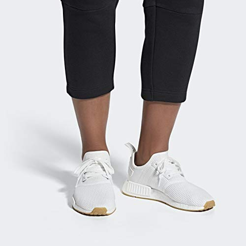 adidas Originals Men's NMD_r1 Shoe, Footwear White/Gum, 5 M US