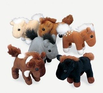 Soft Plush Horses (1 dz) by Fun Express