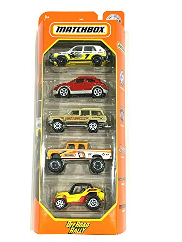 Matchbox 5 Pack 1:64 Scale Cars [Off Road Rally]