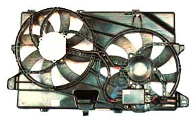 TYC 622040 Ford Edge Replacement Radiator/Condenser Cooling Fan Assembly (2007 Ford Edge Cooling Fans Not Working)