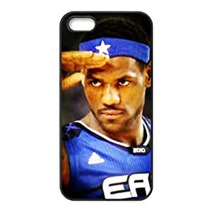 DIY case 4 NBA TeamLebron James Print Black Case With Hard Shell Cover for Apple iPhone 5/5S