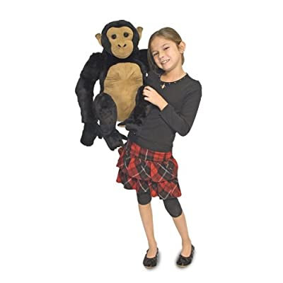 Melissa & Doug Chimpanzee - Lifelike Stuffed Animal: Melissa & Doug, , 2171: Toys & Games