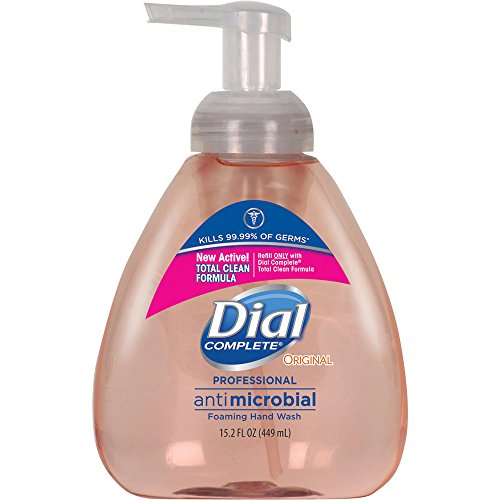 Dial Complete Original Scent Professional Antimicrobial Foaming Hand Soap Pump, 15.2 FL (Self Foaming Soap Refill)