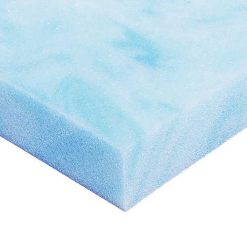 Avana Comfort Gel-Infused Cooling Memory Foam Mattress Topper – Ultra Premium 4 LB Density – 1 Inch Thick, Queen Size