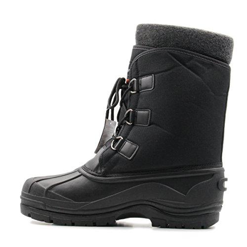 Parrazo Alpine Heren Winterlaarzengeïsoleerd, Waterbestendig, Eenden Snow-boots Zwart
