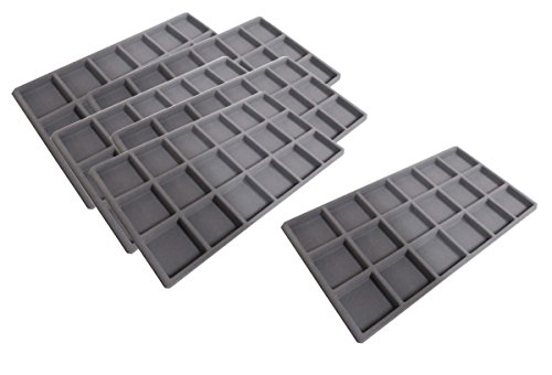 ToolUSA 6 Pc. Plastic Tray Inserts for Beads & Jewelry - 18 Sections - KIT-TJ14180G by ToolUSA
