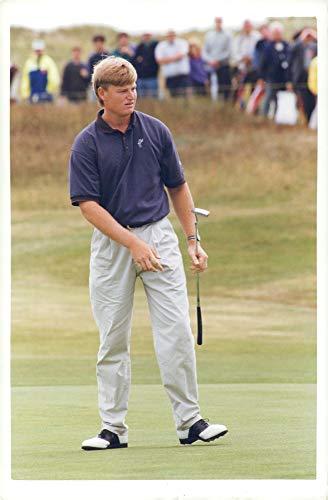 Vintage photo of Ernie Els South African professional golfer.