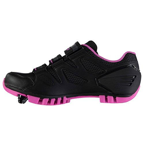 Muddyfox Womens MTB100 Cycling Shoes Waterproof Lightweight Mesh Breathable Black/Pink ohRGdK8
