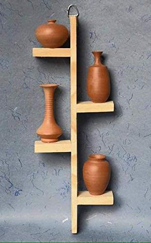 Home Interiors Terracotta Pots with Pine Wood Frame