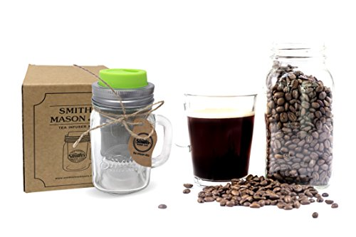 Smith's Mason Jars Cold Brew Coffee Maker and Tea Infuser with Mug and Drinking Lid by Smith's Mason Jars (Image #2)