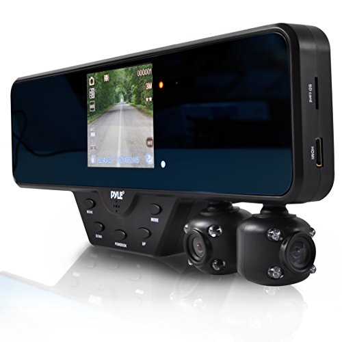 vehicle backup cameras pyle rearview mirror dual car dash camera recorder for hd ebay. Black Bedroom Furniture Sets. Home Design Ideas