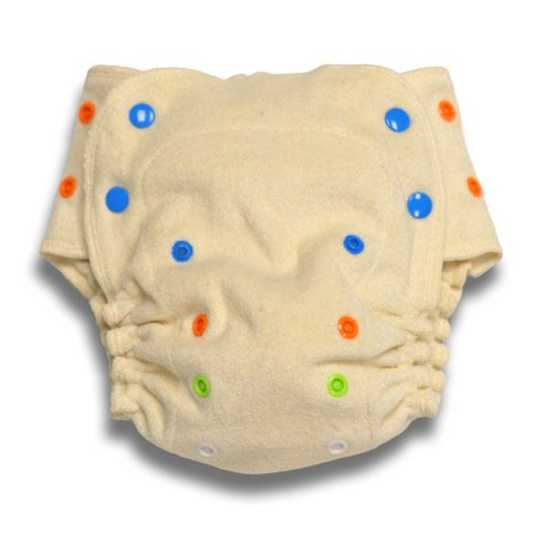 BabyKicks Organic One Size Fitted Diaper, Natural ()