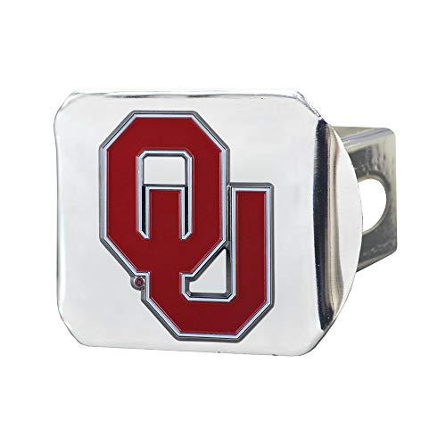 SLS Oklahoma Sooners 3D Color Emblem Chrome Hitch Cover