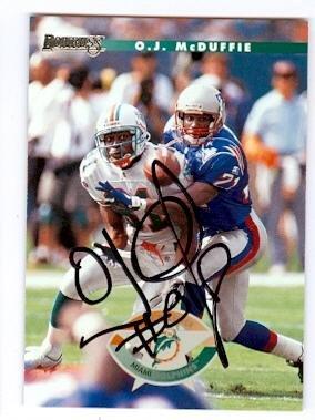 現品限り一斉値下げ! Autograph 122077 Miami Card Dolphins 1996 Donruss Miami No. Autograph 20 Oj Mcduffie Autographed Football Card B01N2VZM4A, インテリアMOKA:14b6d171 --- arianechie.dominiotemporario.com