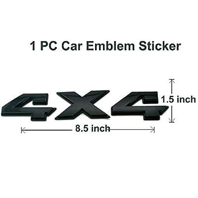 8.8 Inch 4x4 Emblem,1Pack Matt Black Badge Chrome Decal Sticker Replacement for Dodge Ram 1500 2500 3500,Jeep Grand Cherokee Compass Wrangler (Matt Black): Automotive