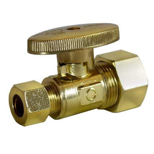- Legend Valve 114-724NL 1/4 Turn Polished Brass Straight Stop Valve, No Lead, 2.4